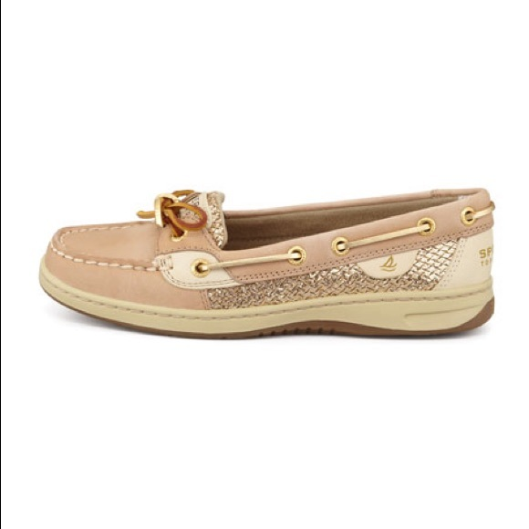 Gold Glitter Angelfish Sperry Topsiders